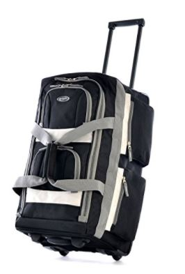 Olympia Luggage 22 Pocket Rolling Duffel Bag